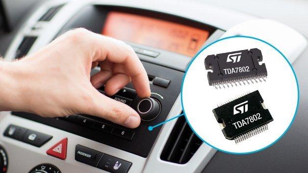 Audio-Leistungsverstärker TDA7802 von STMicroelectronics.