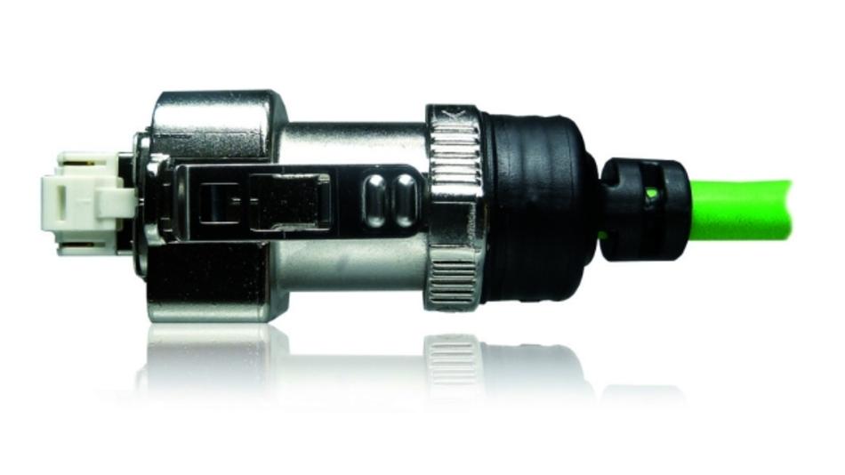 Hybrid-RJ45-Steckverbinder mit Metallgehäuse und Umspritzung