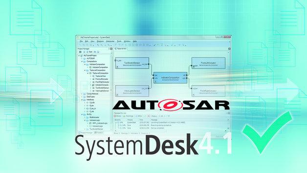 Eine neue Version des Software-Architekturwerkzeugs SystemDesk von dSpace.