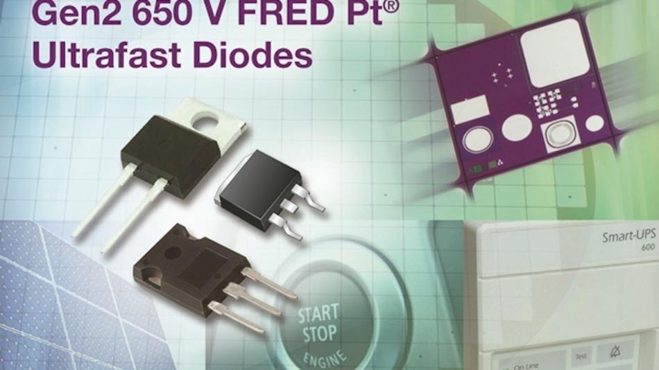 Freilaufdioden für IGBTs tragen bei Vishay die Serienbezeichnung FRED-Pt-GEN2.