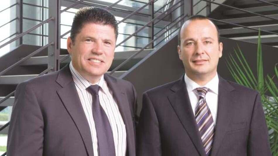 Oliver Konz (links) und Thomas Schrott, Würth Elektronik eiSos Gruppe: »Wir werden unser Produktangebot im Bereich passiver Bauelemente in den nächsten Jahren auch durch ergänzende, zukunftsfähige Zukäufe weiter ausbauen und streben bis 2020 ein Umsatzvolumen von 600 Millionen Euro an.«