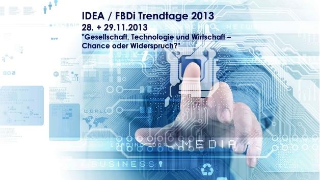 FBDi Trendtage 2013 am 28. und 29. November in München