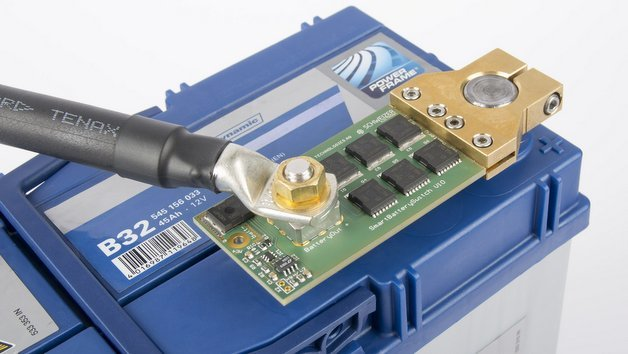 Batterieschalter-Demonstrator von Infineon und Schweizer.