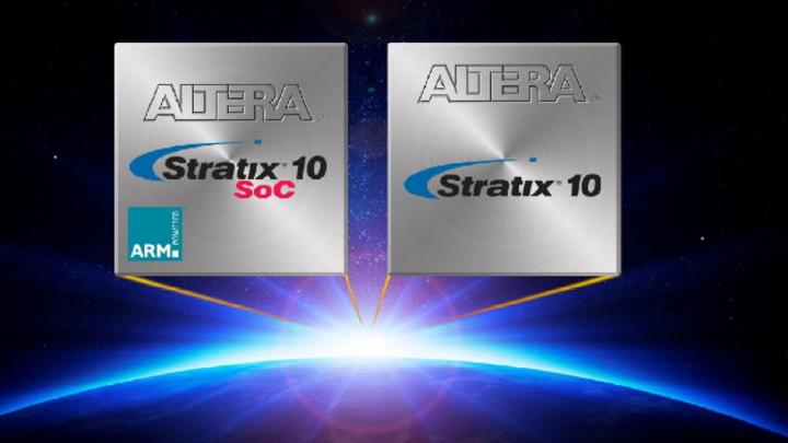 Die High-End-SoCs Stratix-10 werden in Intels 14-nm-FinFET-Prozess gefertigt.