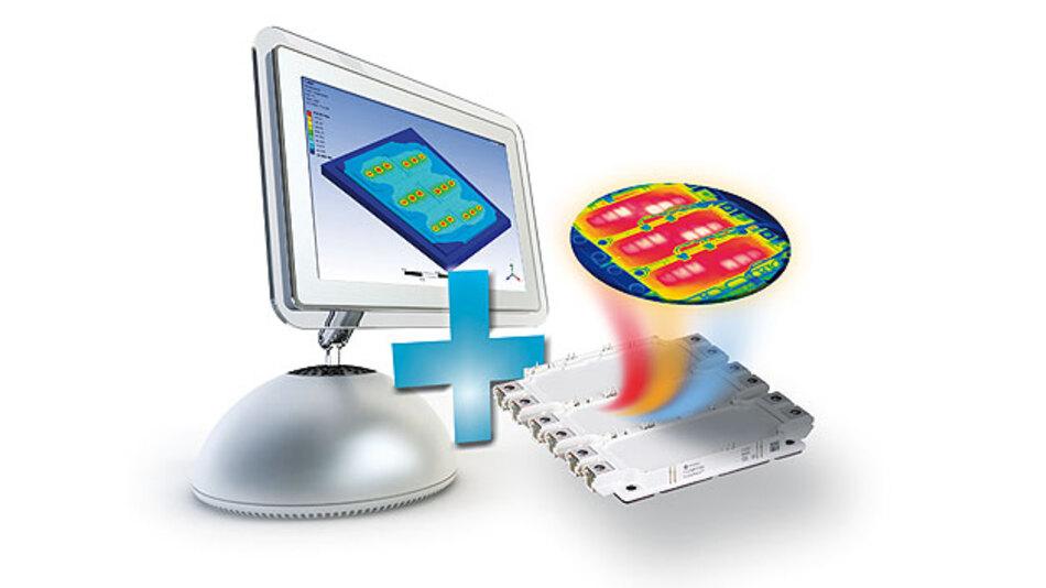 Transiente Wärmewiderstände (Zth-Kurven)und transienter Temperaturverlauf in einem IGBT-Modul zu simulieren und messen.