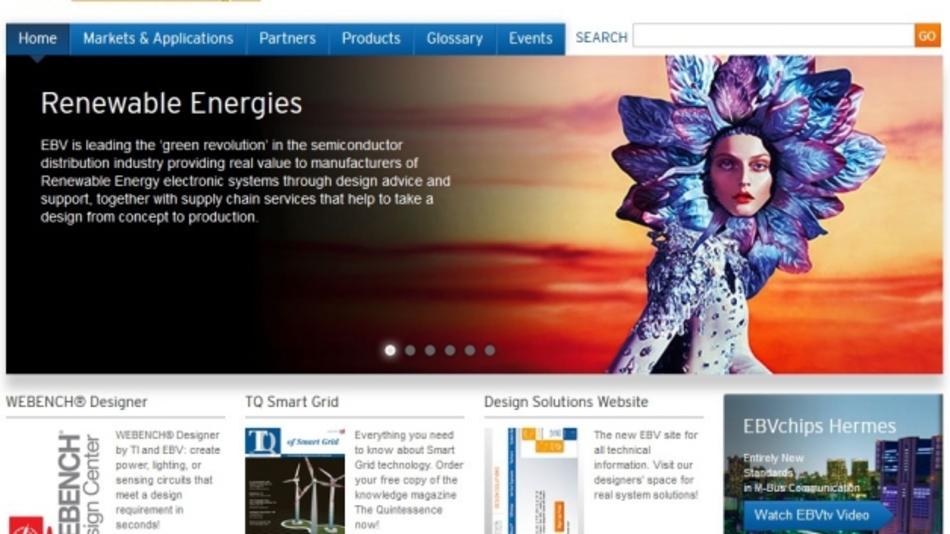 Website für das Vertical  Segment Renewable Energies
