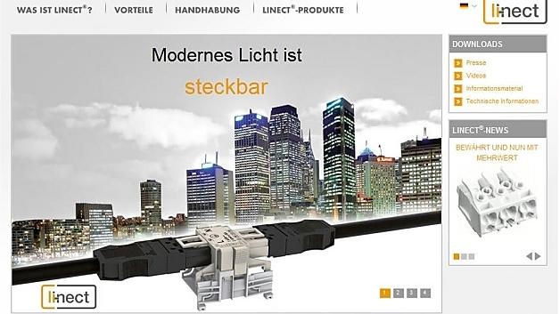Für Elektro-Planer, Installateure und Leuchtenindustrie: die neue Linect-Microsite.