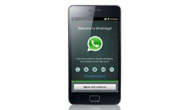 """WhatsApp"" auf Android."