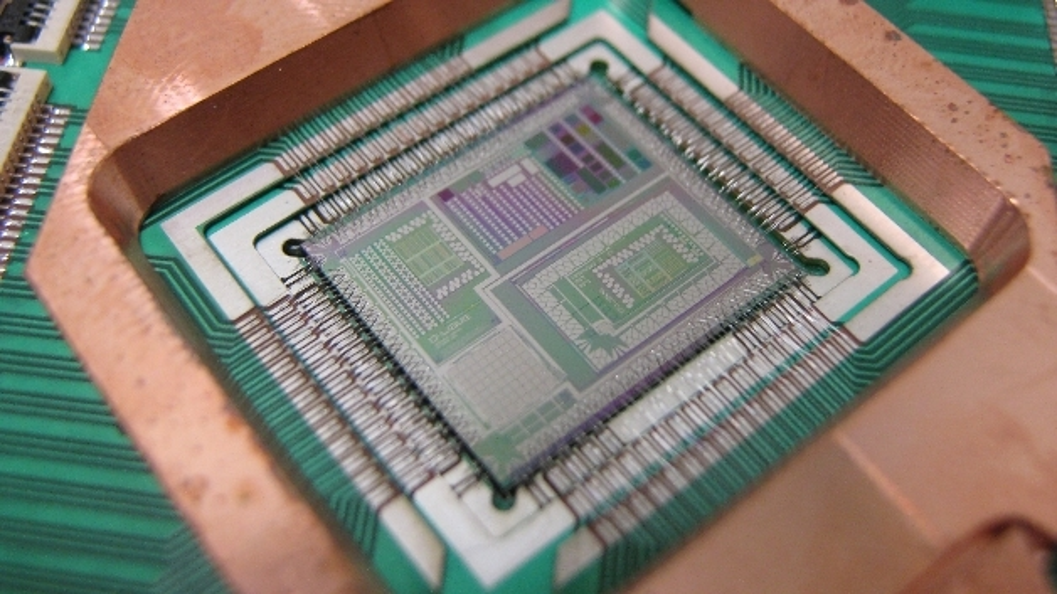 So sieht der Quantencomputing-Mikroprozessor aus.