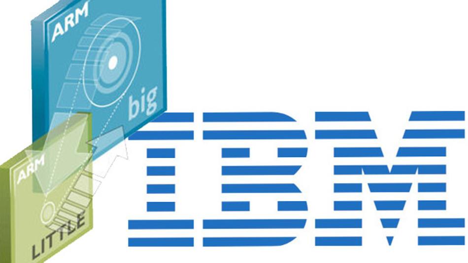 IBM-Logo und ARM-Architektur