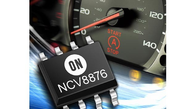 Der Power-Management-IC NCV8876 von On Semiconductor für Applikationen rund um den Antriebsstrang.