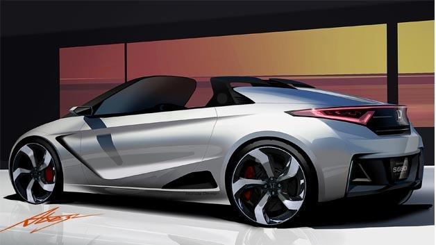 Starker Auftritt für einen kompakten Roadster: Der Honda S660 Concept.