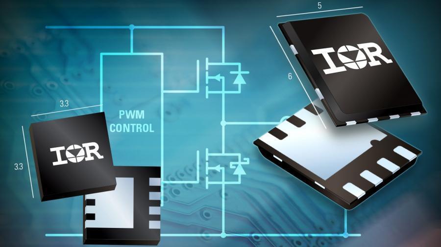Die ICs der »FastIRFET«-Familie für den Aufbau von synchronen DC/DC-Abwärtswandlern werden in PQFN-Gehäusen mit den Abmessungen 5 x 6 mm² für die 100-A-Varianten und 3,3 x 3,3 mm² für die 40-A-Varianten ausgeliefert.