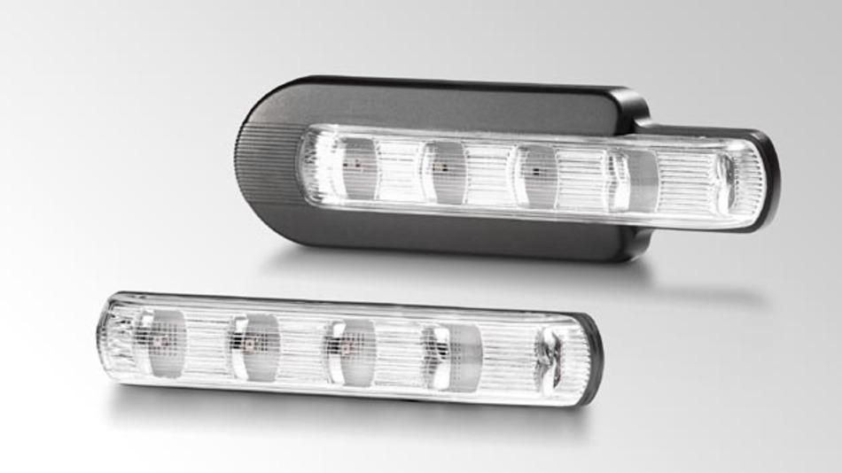 Die LED-Zusatzblinkleuchte aus dem Hause Hella überzeugt durch schnelles Anspruchverhalten und optimale Ausleuchtung.