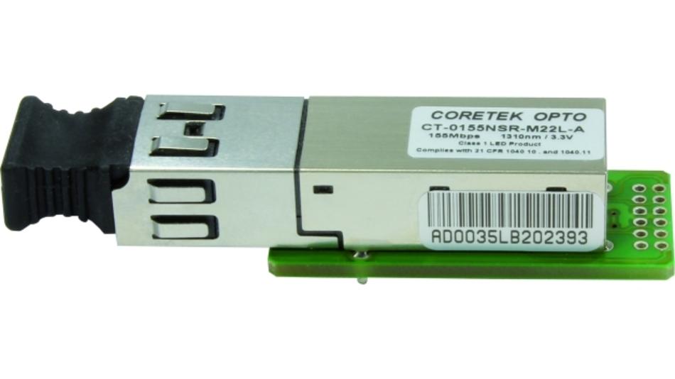 Als Übertragungskomponenten werden bei den elektro-optischen Wandlern sogenannte Small-Form-Factor-Transceiver, kurz SFF-Transceiver, eingesetzt.