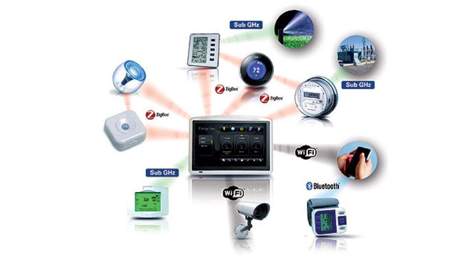 Im Netzwerk des Internet der Dinge müssen verschiedene Funktechniken nebeneinander bestehen.