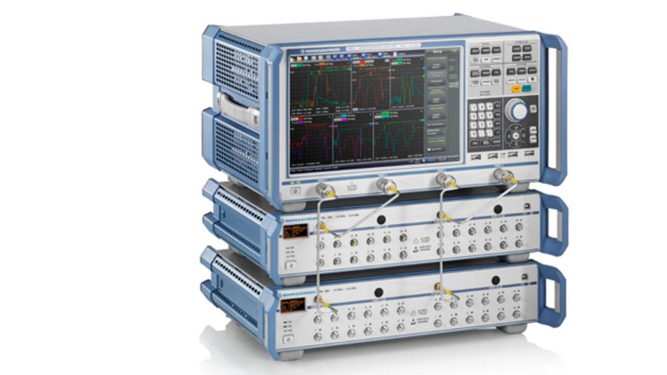 Für die Vermessung von Mehrtorkomponenten hat Rohde & Schwarz die Schaltmatrix R&S ZN-Z84 entwickelt. Sie wird direkt über den Netzwerkanalysator R&S ZNB angesteuert und deckt Frequenzen von 10 MHz bis 8,5 GHz ab.