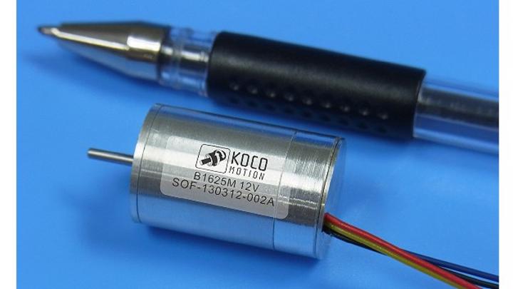 Der B1625M-SO1 ist der weltweit kleinste BLDC-Eisenankermotor.