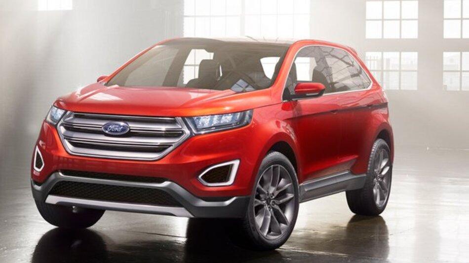 Das Design des Ford Edge Concept wirkt kraftvoll und muskulös.