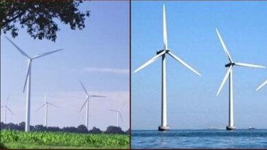 Schmuckbild Windenergie onshore und offshore