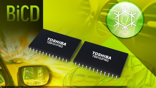 Motortreiber-ICs TB9101FNG und TB9102FNG von Toshiba.