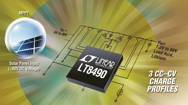 Der LT8490 hat 3 Profile für das CC/CV-Ladeverfahren für Blei- und Lithium-Ionen-Akkus.