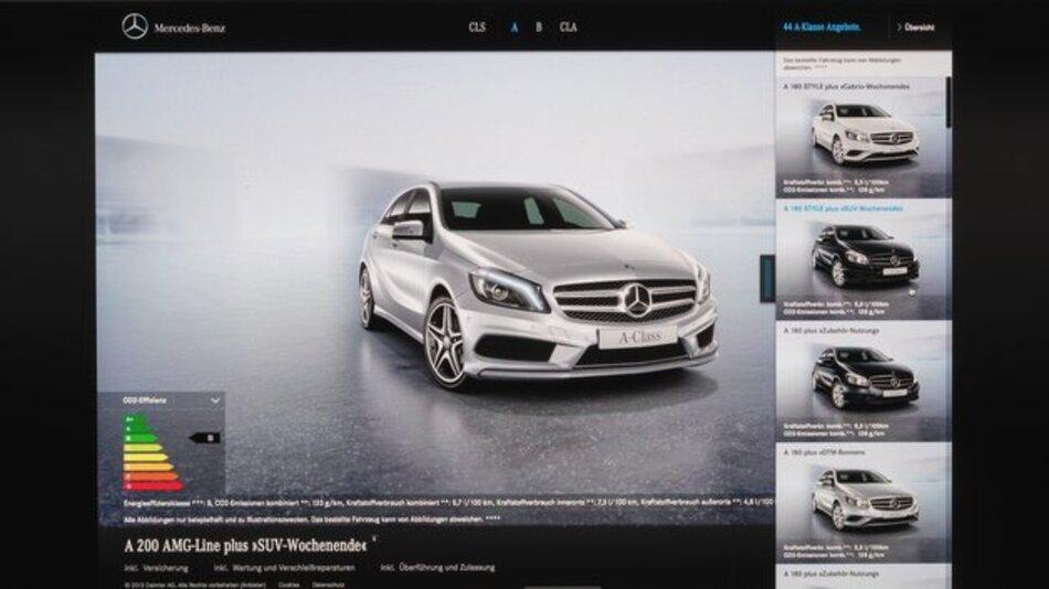 """Der Online-Shop """"Mercedes-Benz connect me"""" ermöglicht den Neuwagenkauf im Web."""