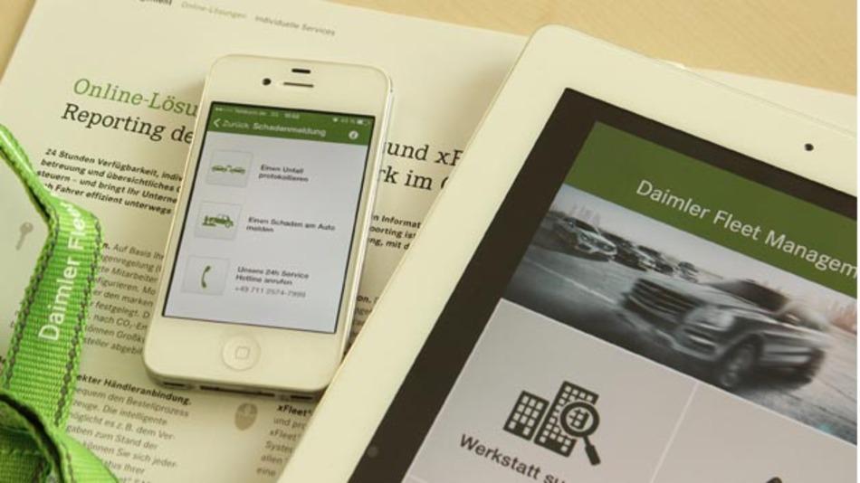 """Rundum-Service für den Fuhrparkalltag mit der """"Fleet-App"""" von Daimler."""