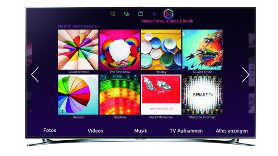 Der 55-Zoll-Fernseher F8090 von Samsung bietet zahlreiche Online-Dienste. Ein Teil der Menschen ignoriert das aber oder lehnt die Internetfähigkeit sogar ab.