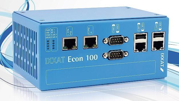 Flexibel anpassbar ist das Hutschienen-montierbare Master-Modul »Ixxat Econ 100« von Ixxat Automation.