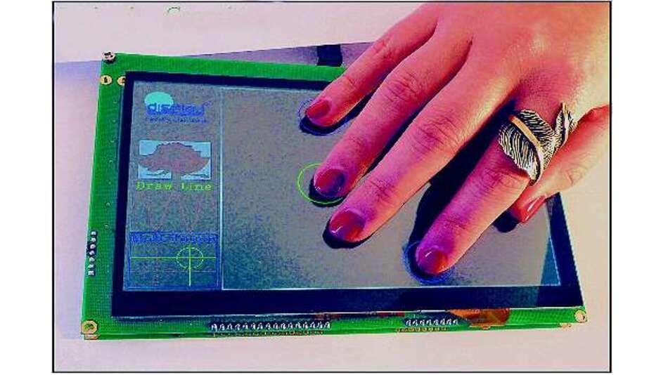Bild 2: TFT-Bildschirme mit projiziertem kapazitivem Touch
