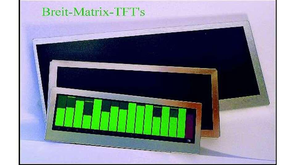 Bild 3: Zur embedded world 2014 möchte Display Elektronik ein neues Programm an sogenannten Breitmatrix-TFT-Anzeigen vorstellen