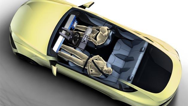 Das Konzeptfahrzeug XChangE fährt nicht nur autonom, sondern hat den Komfort des Fahrers im Fokus.