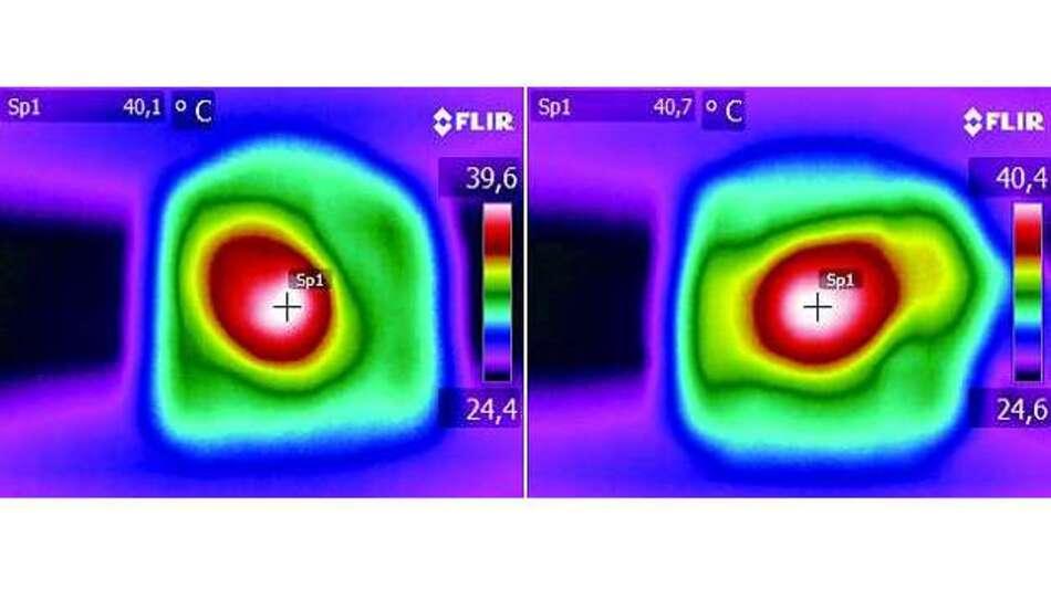 Bild 4: Wärmebilder beider Spulen