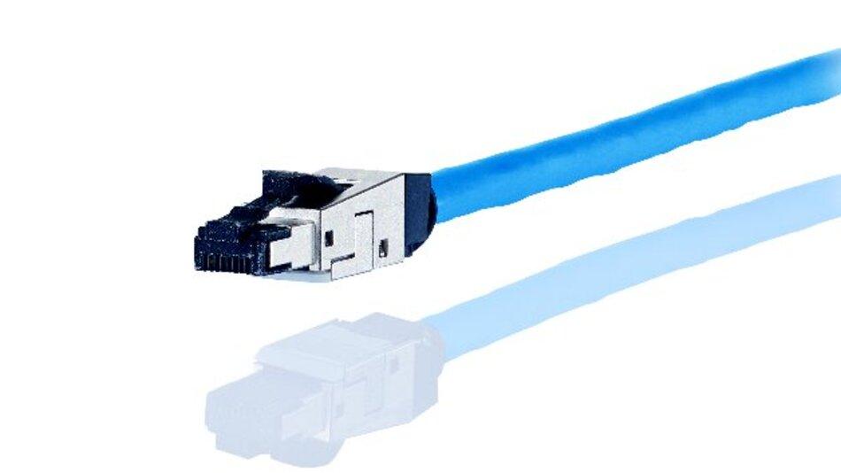 Feldkonfektionierbarer Steckverbinder für die Übertragung bis 10 GBit