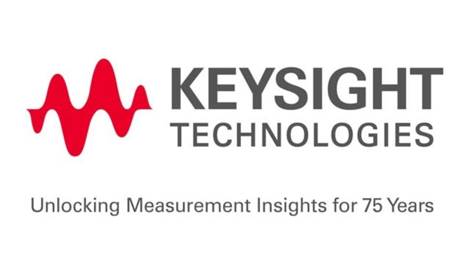 Das Logo von Keysight Technologies, des von Agilent demnächst ausgegliederten Elektronik-Messtechnik-Bereiches, visualisiert mit der Wellenform den Kernbereich der Unternehmens-Aktivitäten.
