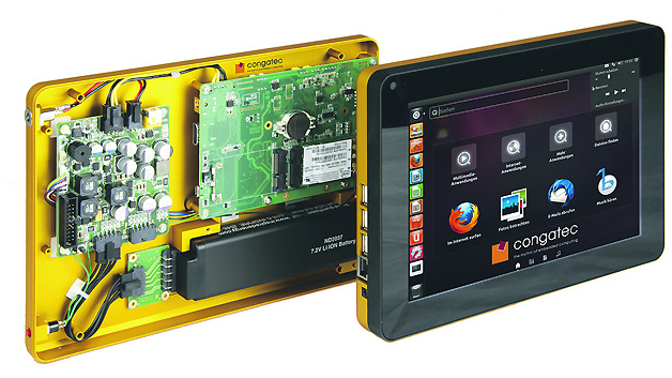 Industrieller Tablet-PC-Demonstrator mit Qseven-Modul von congatec