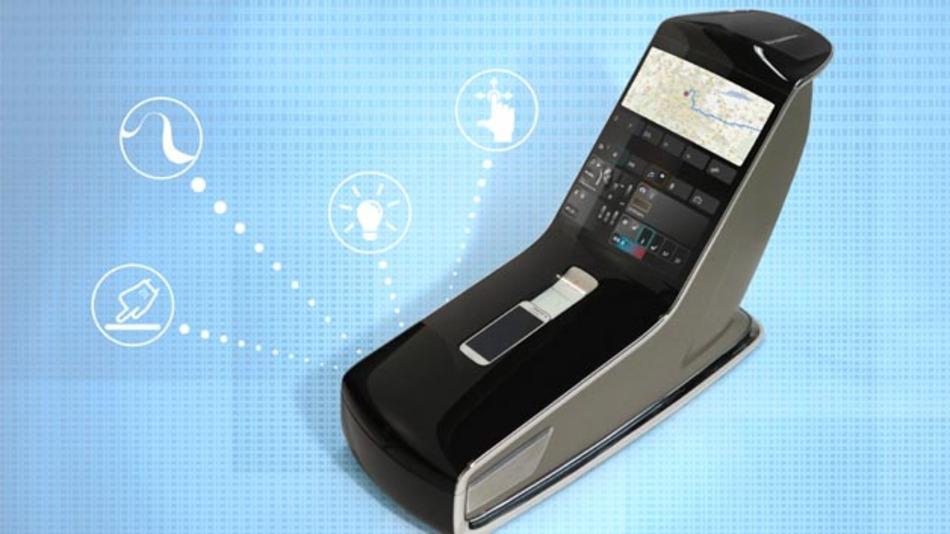Gebogene Mittelkonsole mit Touch-Bedienung: AvantCar von Atmel.