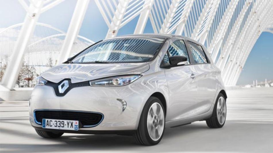 """Sicheres Elektroauto: der Renault Zoe erhielt das Prädikatssiegel """"Bester seiner Klasse"""" der Euro-NCAP."""