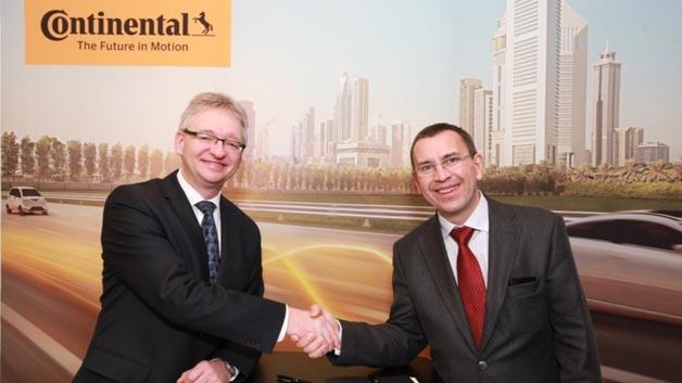 Verstärkte Zusammenarbeit zwischen Automobilzulieferer Continental und Kartenanbieter HERE.