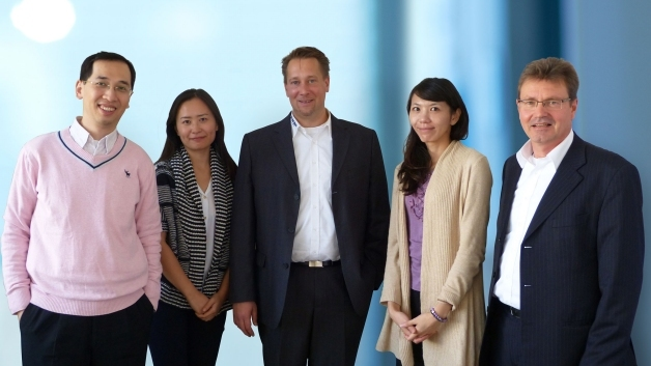 (v.l.n.r.): Eason Chou, Natasha Hsiao (beide CHILISIN), Falko Ladiges (WDI), Irene Chang (CHILISIN), Thorsten Broda (WDI)