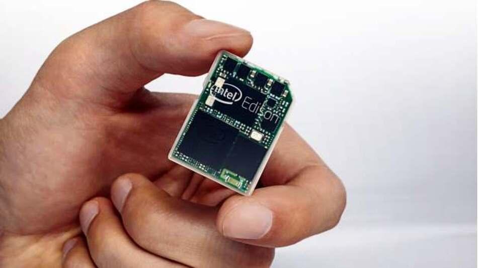 Intel hat für seine Edison-Plattform das Format einer SD-Karte gewählt.