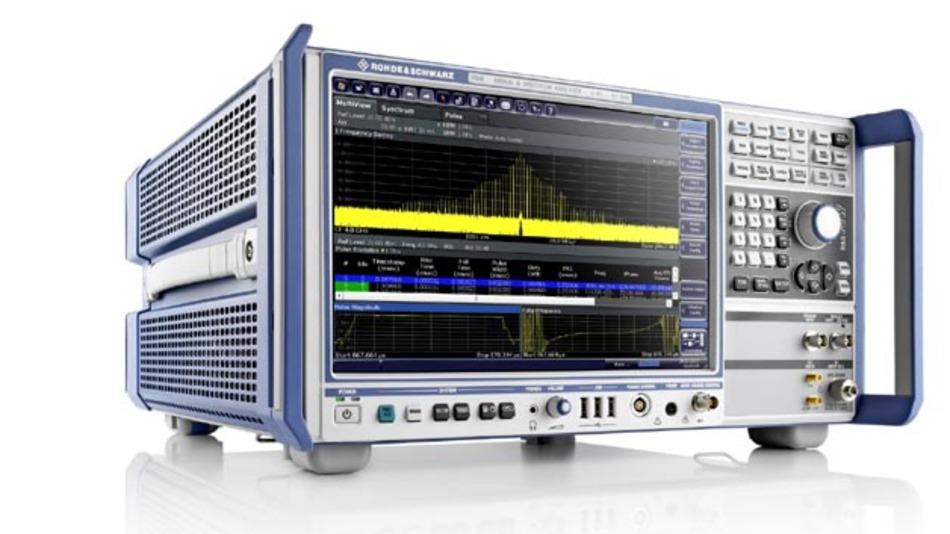 er R&S FSW ist ein Signal- und Spektrumanalysator mit 500 MHz Analysebandbreite.