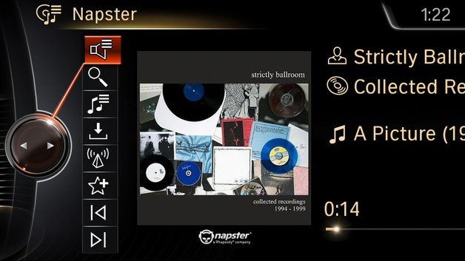 Zum Napster-Angebot von BMW ConnectedDrive gehört eine unbegrenzte Musikflatrate.