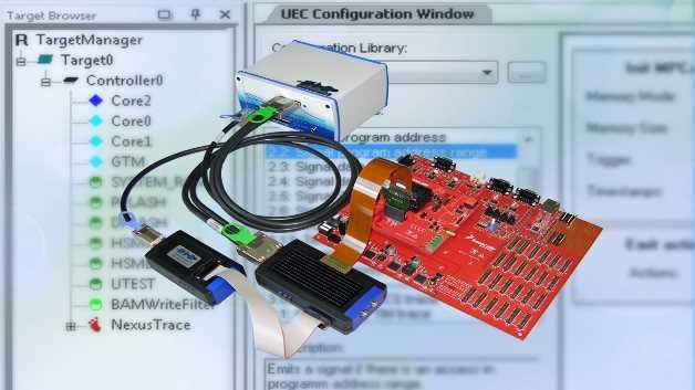 Der Universal Emulation Configurator von PLS erschließt das volle Potenzial der Emulation Devices von Freescale und STMicroelectronics