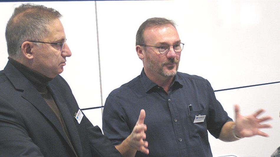 """Roberto Petrillo (links), Worldwide Vice President of Sales, und Tom Reslewic, President und CEO, beide Teledyne-LeCroy: """"Die Übernahme von LeCroy durch Teledyne vor gut einem Jahr war ganz hervorragend für das Unternehmen. Technologisch wird sich in nächster Zeit einiges bei den Oszilloskopen tun. Nicht zuletzt geben FPGAs gute Möglichkeiten für Innovationen."""""""
