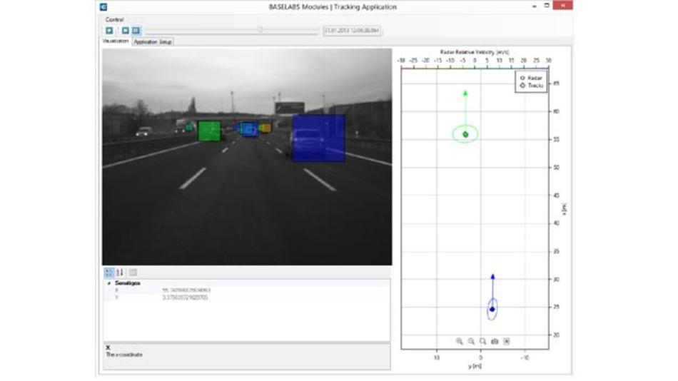 Anwendung für Baselabs Modules in Test und Evaluierung ist die Datenaufzeichnung von Systemen mit beliebigen Sensoren.