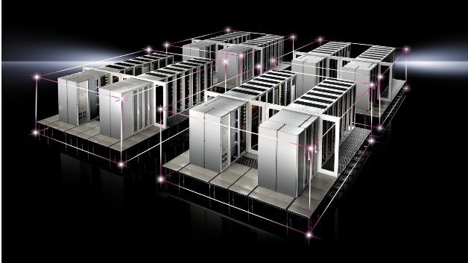 Für Rittals standardisierte Rechenzentrumslösung RiMatrix S liefert PUE, ein Paket aus Hard- und Software, rasche Infos zu Effizienzwerten im Rechenzentrum.