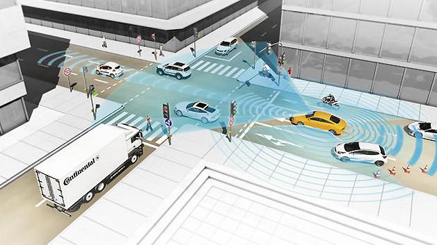 Mehr Verkehrssicherheit durch vernetzte Fahrzeuge.