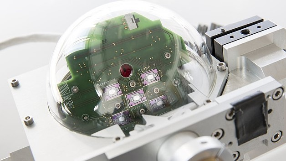 Optischer Scankopf einer 3D-ToF-Kamera mit integriertem MEMS-Scannerspiegelarray
